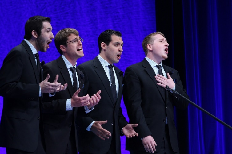 L to R- Tenor: Paul Franek, Lead: David Ammirata, Bass:  Will Downey, Baritone:  Joe Servidio